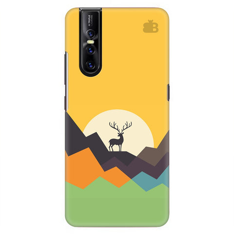 Deer In Mountains Vivo V15 Pro Cover