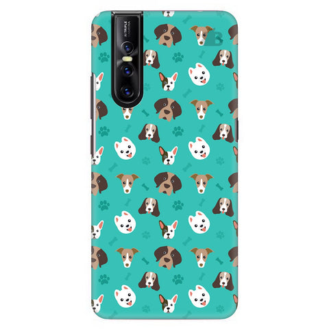 Doggie Pattern Vivo V15 Pro Cover
