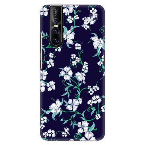 Dogwood Floral Pattern Vivo V15 Pro Cover