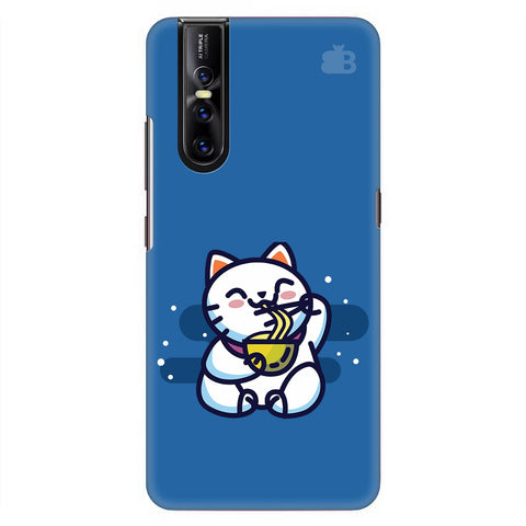 Kitty Eating Noodles Vivo V15 Pro Cover