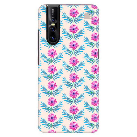Pink Watercolor Pattern Vivo V15 Pro Cover