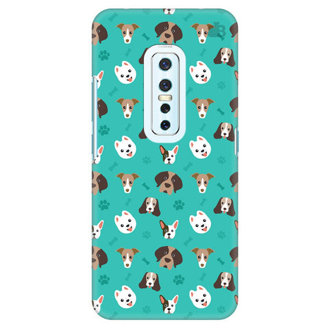 Doggie Pattern Vivo V17 Pro Cover