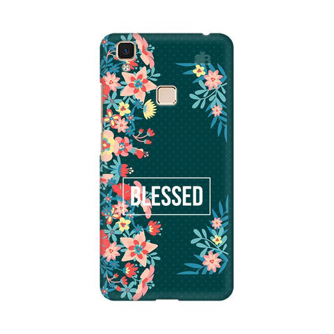 Blessed Floral Vivo V3 Max Phone Cover