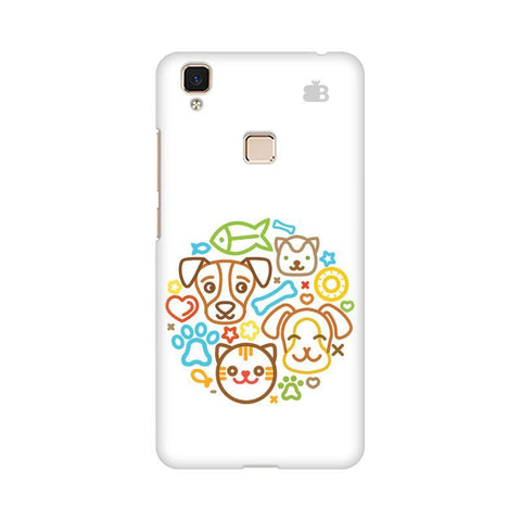 Cute Pets Vivo V3 Max Phone Cover