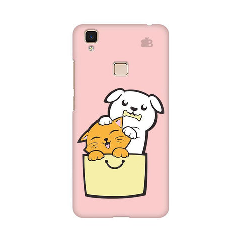 Kitty Puppy Buddies Vivo V3 Max Phone Cover