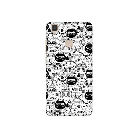 Cute Cats Pattern Vivo V3 Phone Cover