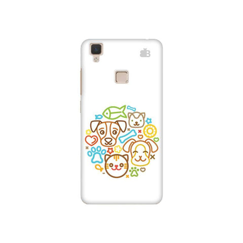 Cute Pets Vivo V3 Phone Cover