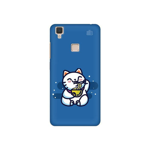 KItty eating Noodles Vivo V3 Phone Cover