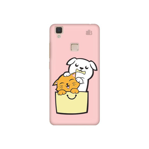 Kitty Puppy Buddies Vivo V3 Phone Cover