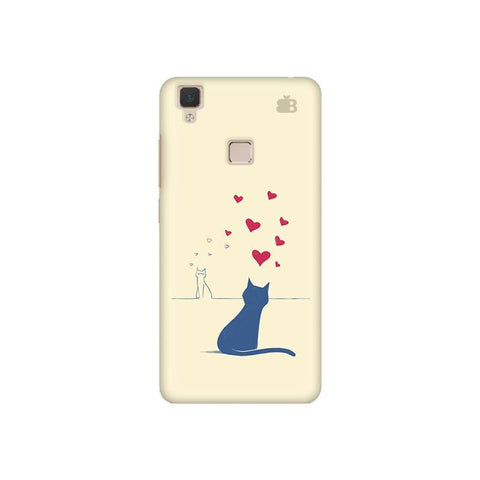 Kitty in Love Vivo V3 Phone Cover
