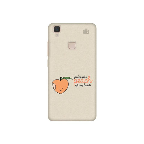 Peach of my heart Vivo V3 Phone Cover