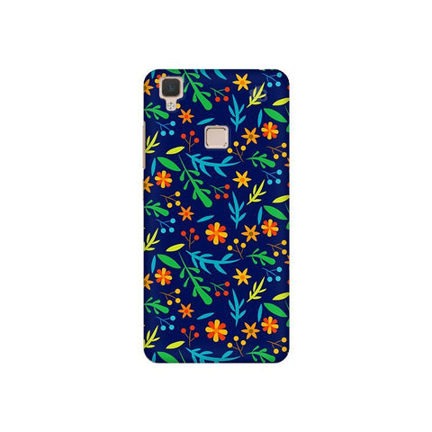 Vibrant Floral Pattern Vivo V3 Phone Cover