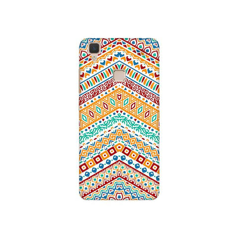 Wavy Ethnic Art Vivo V3 Phone Cover
