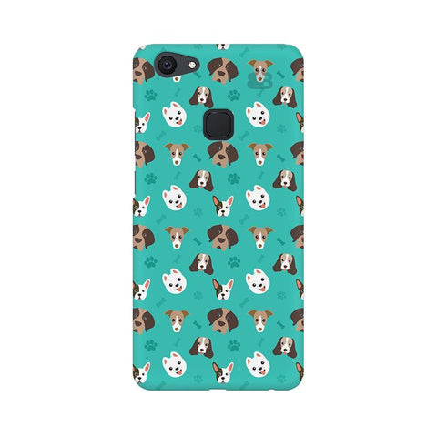 Doggie Pattern Vivo V7 Plus Phone Cover
