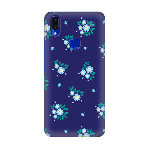 Blue Floral Pattern Vivo V9 Youth Cover