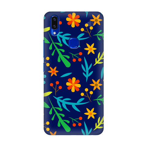 Vibrant Floral Pattern Vivo V9 Youth Cover