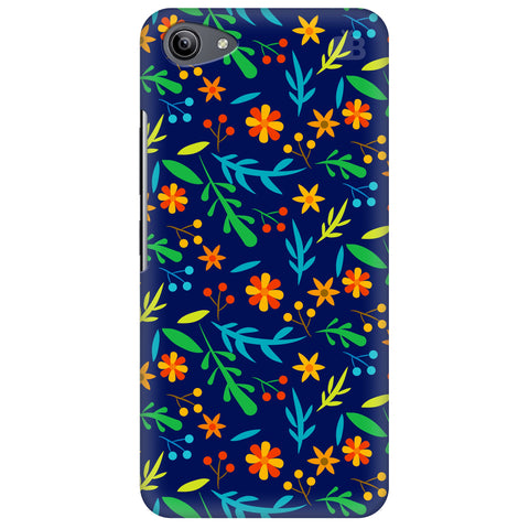 Vibrant Floral Pattern Vivo Y81i Cover