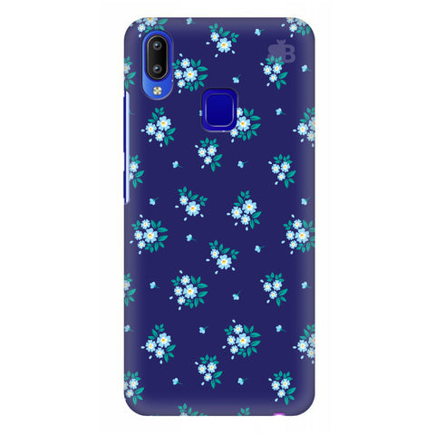 Blue Floral Pattern Vivo Y95 Cover