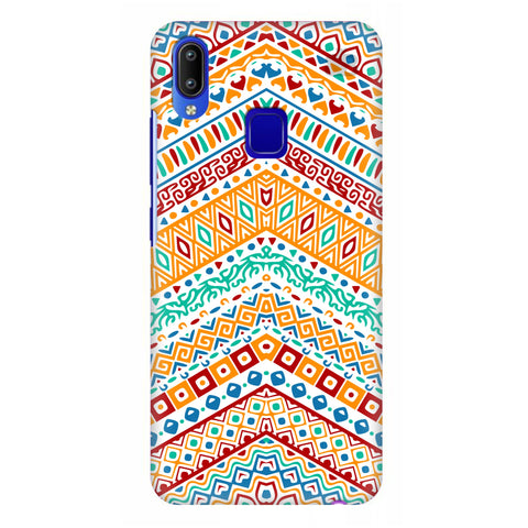 Wavy Ethnic Art Vivo Y95 Cover
