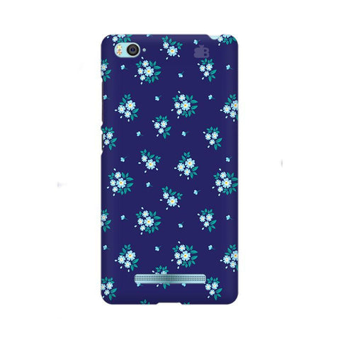 Blue Floral Pattern Xiaom Mi 4i Phone Cover