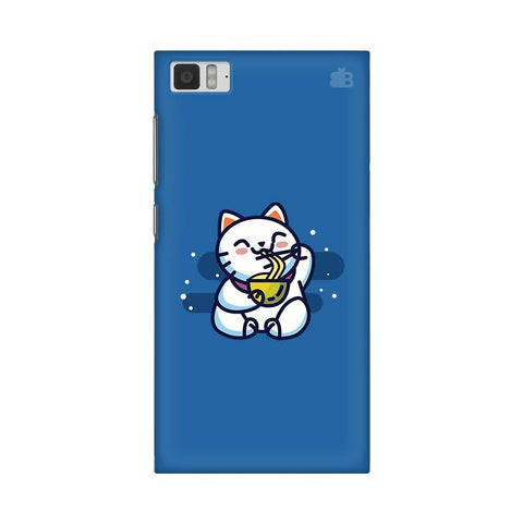 KItty eating Noodles Xiaomi Mi 3 Phone Cover