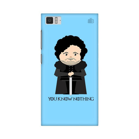 You Know Nothing Xiaomi Mi 3 Phone Cover