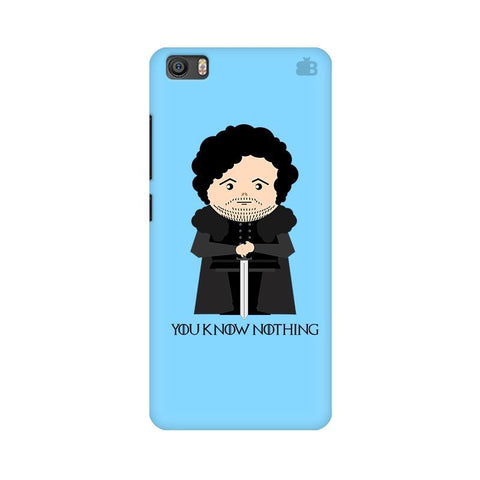 You Know Nothing Xiaomi Mi 5 Phone Cover