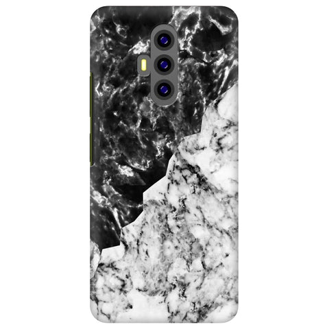 Black White Marble Xiaomi Poco F2 Cover
