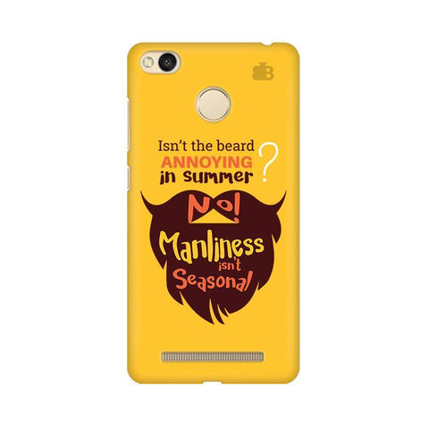 Beard Brown Xiaomi Redmi 3s Prime Phone Cover