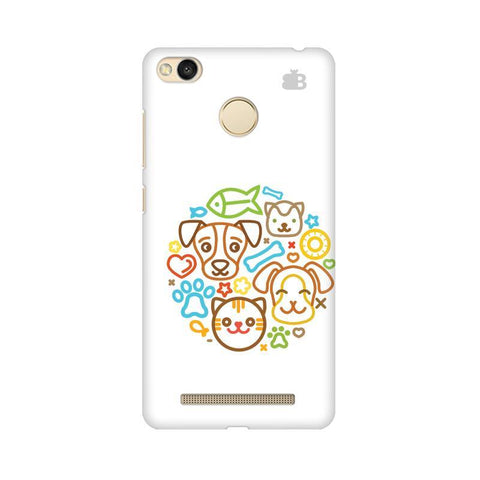 Cute Pets Xiaomi Redmi 3s Prime Phone Cover