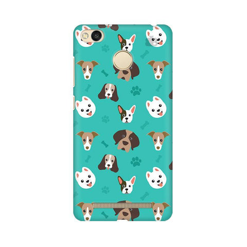 Doggie Pattern Xiaomi Redmi 3s Prime Phone Cover