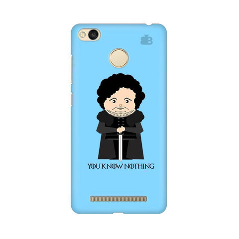 You Know Nothing Xiaomi Redmi 3s Prime Phone Cover