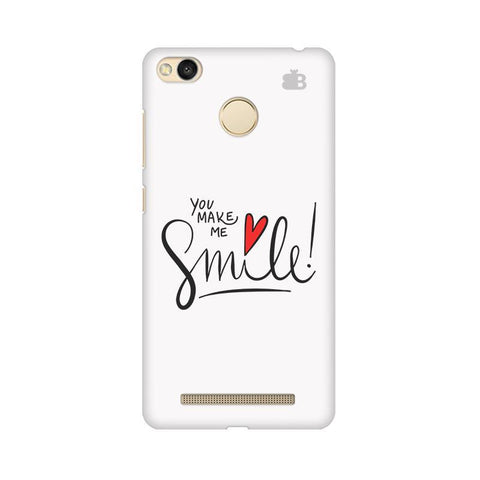 You make me Smile Xiaomi Redmi 3s Prime Phone Cover