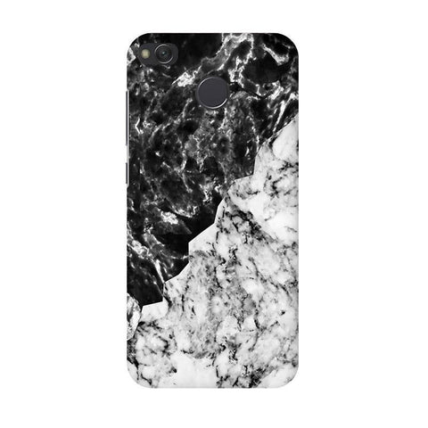 Black White Marble Xiaomi Redmi 4 Phone Cover