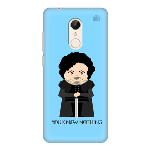 You Know Nothing Xiaomi Redmi 5 Cover