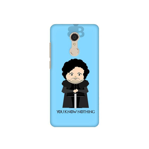 You Know Nothing Xiaomi Redmi 5 Plus Phone Cover