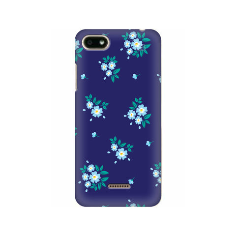 Blue Floral Pattern Xiaomi Redmi 6A Cover
