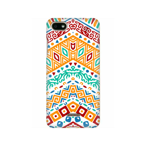 Wavy Ethnic Art Xiaomi Redmi 6A Cover