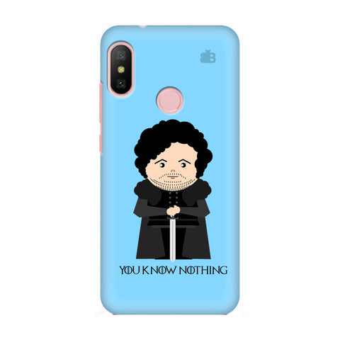 You Know Nothing Xiaomi Redmi 6 Pro Cover
