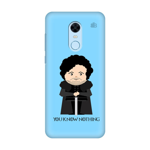 You Know Nothing Xiaomi Redmi Note 5 Cover
