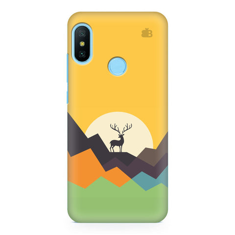 Deer in Mountains Xiaomi Redmi Note 6 Pro  Cover