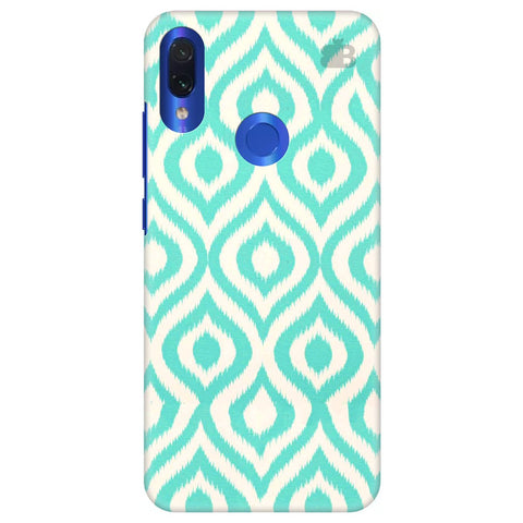 Cyan Ikat Xiaomi Redmi Note 7 Cover