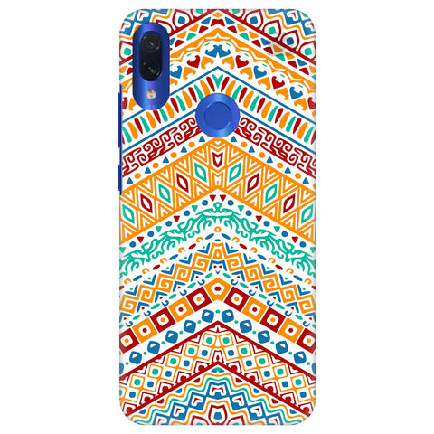 Wavy Ethnic Art Xiaomi Redmi Note 7 Cover