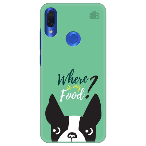 Where is my Food Xiaomi Redmi Note 7 Cover