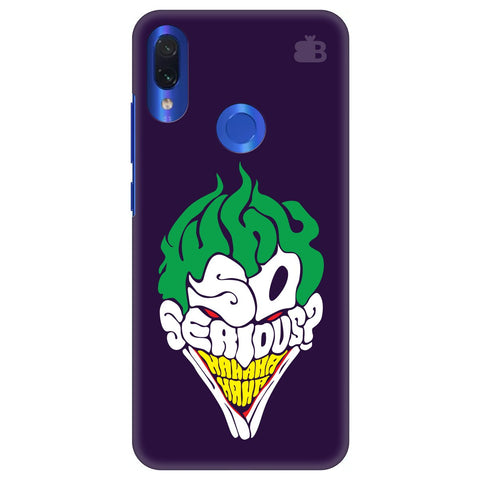 Why So Serious Xiaomi Redmi Note 7 Cover