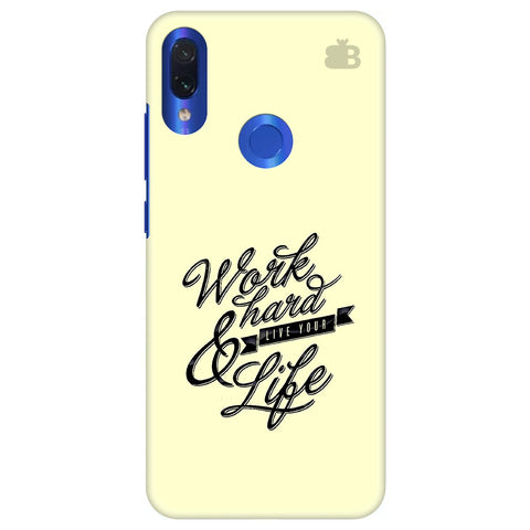 Work Hard Xiaomi Redmi Note 7 Cover