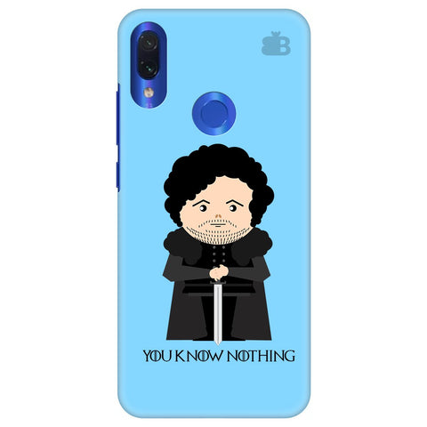 You Know Nothing Xiaomi Redmi Note 7 Cover