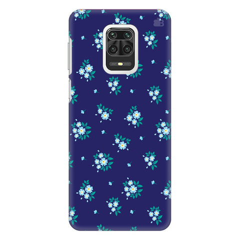 Blue Floral Pattern Xiaomi Redmi Note 9 Pro Cover