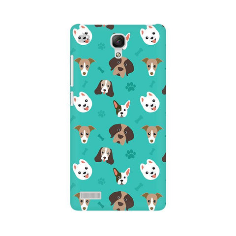 Doggie Pattern Xiaomi Redmi Note Phone Cover