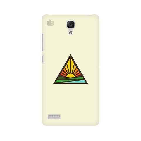 Triangular Sun Xiaomi Redmi Note Phone Cover